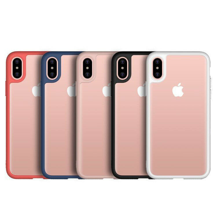 Apple iPhone X 7 Shockproof Clear Ultra Thin Hard Hybrid Bumper Back Case Cover image 2