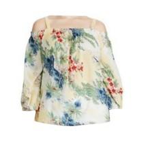 Chaps by Ralph Lauren Womens Plus Tropical Off The Shoulder Blouse Top 1... - $39.99