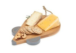 cheese board, Bamboo Squeak Mouse rustic serving elegant cheese boards - $25.24