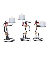 Iron Metal Showpiece Figurine Tea Light Holder for Home Decor Living Roo... - $26.95