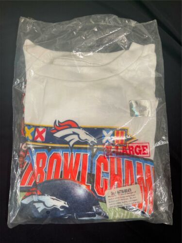 NEW 1998 Vintage DENVER BRONCOS SUPER BOWL XXXII Champions T-Shirt XL