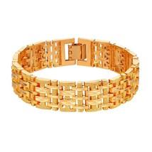 U7 Big Bracelets Bangles Silver/Gold Color Chunky Hand Chain Bracelet Fo... - $17.20