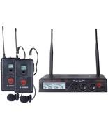 Nady U-2100 LT/O (BAND A/B) UHF Dual 100-Channel Wireless Lavalier Handh... - $212.53