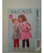 McCalls M6595 Girls Dress Top Jumper Pants Sizes 6-8 Easy Uncut Sewing P... - $12.71