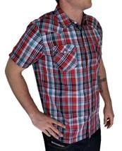 Levi's Men's Classic Button Plaid Red Geometric Shirt 3LYSW6062-App image 2