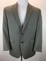 S26 Ralph Lauren 41R 100% Wool Gray Herringbone Sport Coat Blazer Jacket - $29.29