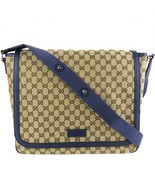 NEW/AUTHENTIC GUCCI 510340 Original GG Canvas Diaper Bag, Blue - $1,250.00