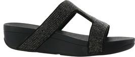 FitFlop Marli Crystal Slide Sandal BLACK 7 NEW 691-175 - $100.96