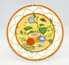 """Hermes La Siesta Dessert Piatto 8.75 """" Porcellana 22.5 CM Fiore 022 - $233.65"""