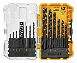 Dewalt DWA1184 14Piece Set Black Oxide Coated Hss Twist Drill Bit Set - $17.71