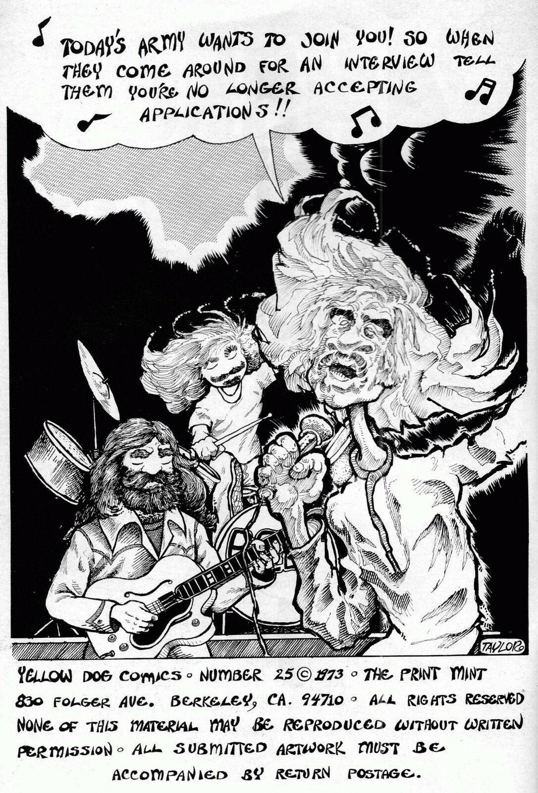 Yellow Dog 25, Print Mint 1973  classic Underground Comix - obo