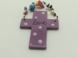 Silvestri Ceramic Purple Cross by Sandra Magsamen Love - $12.50