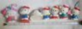 Lot of 7 Hello Kitty Toys Figures party Cup Cake Toppers Keychain pre-ow... - $15.00