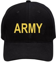Black Embroidered Army Adjustable Cap - $9.99