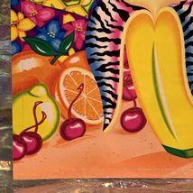 "Vintage Lisa Frank JUMBO FABULOUS FRUIT Oversized Sticker (about 5x6.5"") Minty image 4"