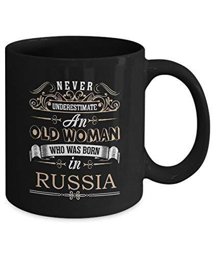 Primary image for Russia Coffee Mug - Old Woman Who was Born in Russia Ceramic Mugs - Cute Russia