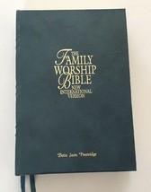 The Family Worship Bible Neuf International Version Holman Cuir Vert 199... - $30.10