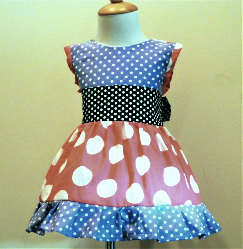 a58dc59a26bd3a Handmade Girls Sleeve Less Polka Dot Dress and 50 similar items. Img  6086151014 1529259154