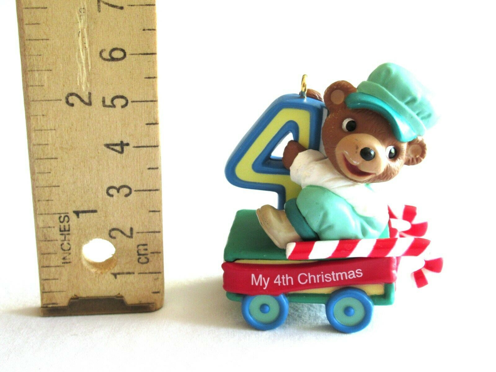 Hallmark 'Baby's Fourth Christmas' Childs Age 4th 2002 Peppermint Express Train - $8.99