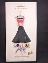 Hallmark Keepsake Barbie The Perfect Evening Out 2006 Ornament Set & Display NEW - $15.97