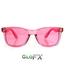 GloFX Color Infused Diffraction Glasses – Pink Rose Rave Eyewear EDM Rave Club - $17.99