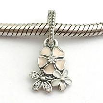 Authentisch Pandora Poetic Blüten Emaille & Klar Zirkonia Charm 791824EN... - $41.05