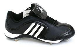 Adidas Excelsior 6 Low Black & White Metal Baseball Softball Cleats Mens NEW - $44.99