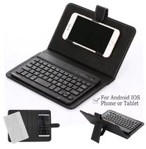 Leather Bluetooth Wireless Keyboard Case For Android and iOS - $28.99