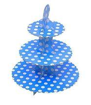 Creative 3-Tier Treat Tree Cake/Cupcake Stand, Blue 2 Pieces - $33.80