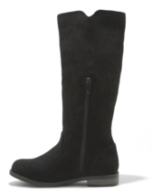 Cat & Jack Girls Black Helena Faux Suede Mid Calf Riding Fashion Boots sz 13 NEW image 2