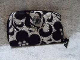 Vera Bradley turnlock wallet in Night and Day - $27.00