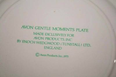 Avon Gentle Moments Collector Plate 1975 Enoch Wedgwood England  #1640 image 7