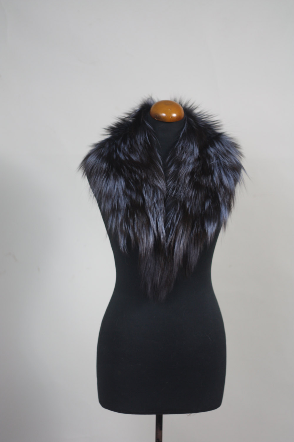 Primary image for Luxury gift/Blue Fox Fur Collar  Women's/wedding or anniversary present