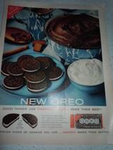 Vintage Nabisco Oreo Cookies Print Magazine Adv... - $4.99