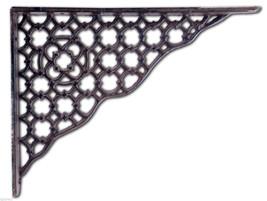 "Ornate Lattice Shelf Bracket Brown Cast Iron Decorative Brace 10"" DIY Corbel - $16.43"