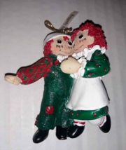 Raggedy Ann And Andy Christmas Tree Ornament Target Give Away 1998  - $8.41
