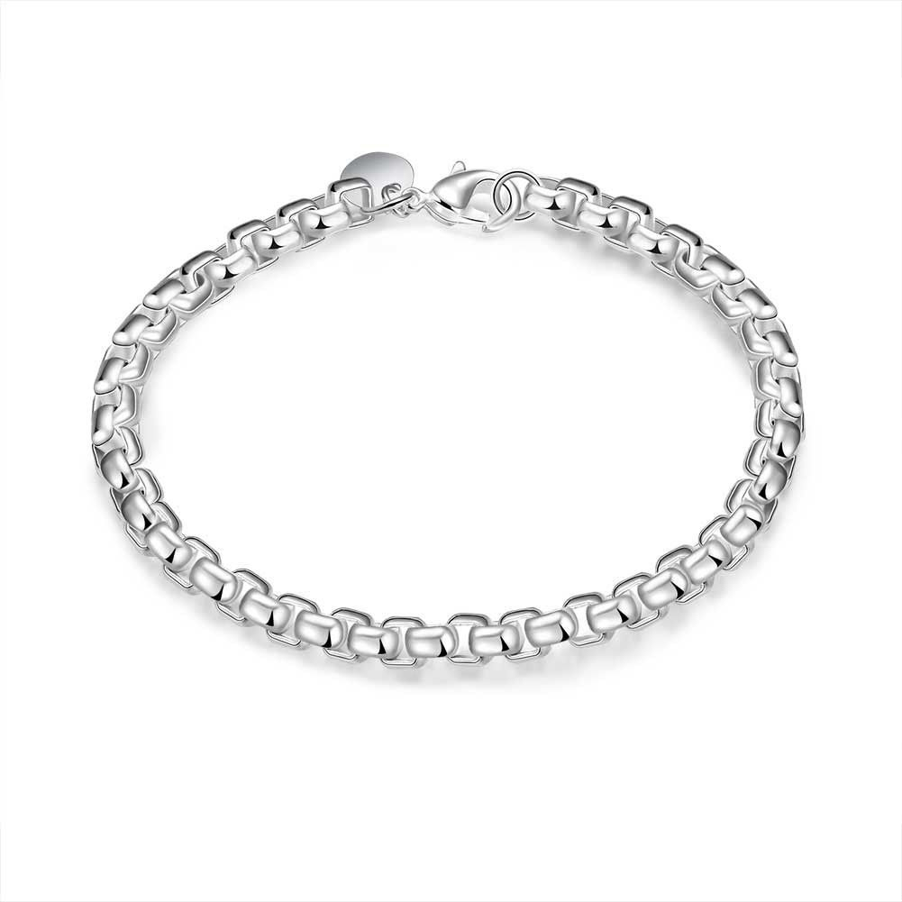 Silver Charm Round Bangle Womens Fashion