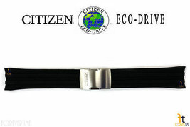 Citizen 59-S53460 CB0021-06E Original Black Rubber Watch Band H145-S073553 - $119.95