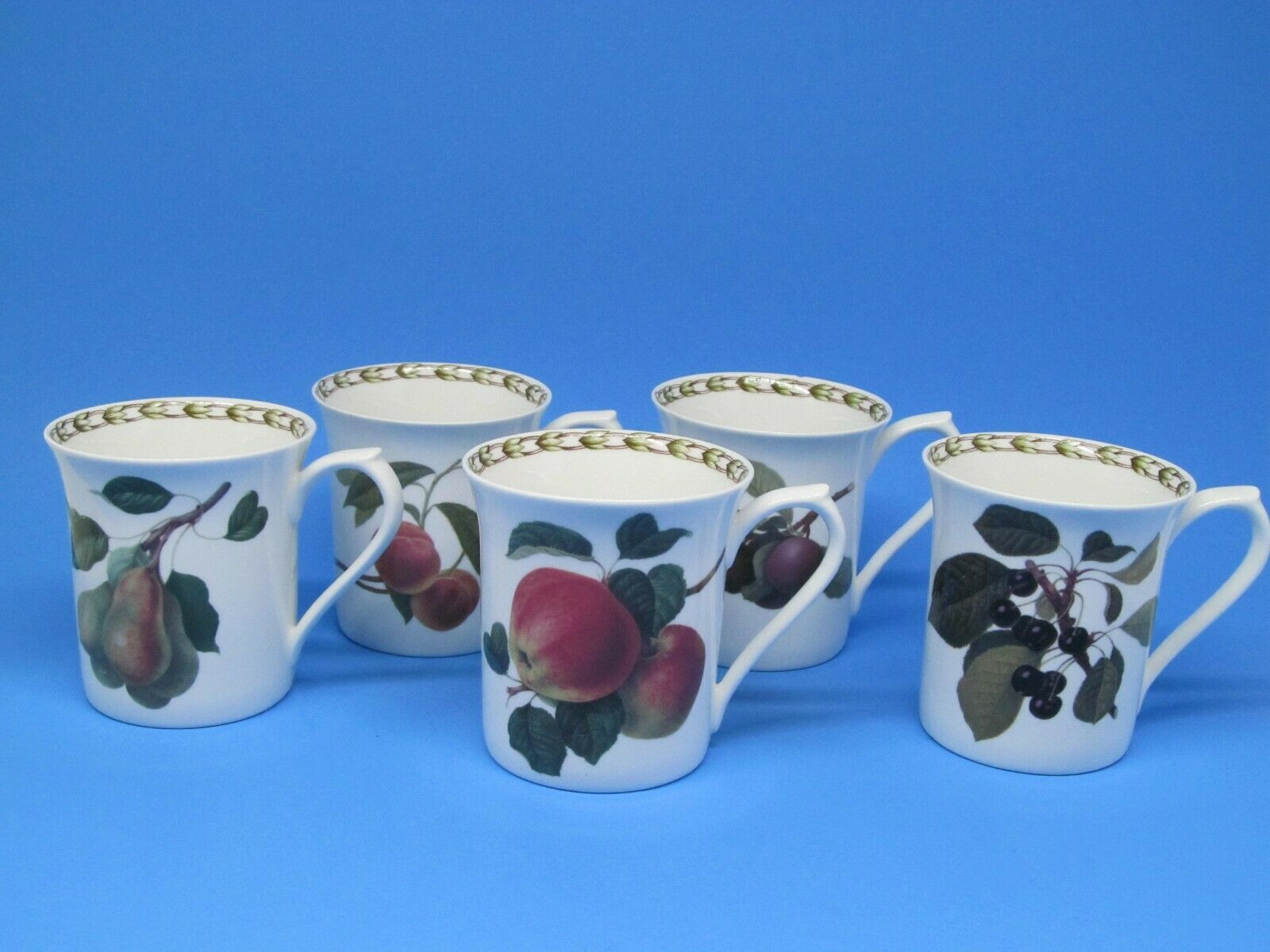 Primary image for 4 Queen's Hookers Fruit Fine Bone China Mugs Cups Bundle of  4