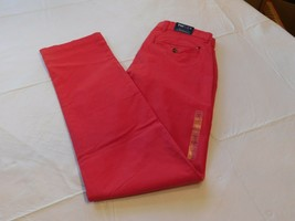 Tommy Hilfiger THFlex Custom Fit 38 W X 32 L long pants 78B9005 645 Red NWT - $38.11