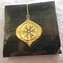Lot of 90 NIP Christmas Party Napkins Black Gold Metallic MCM Ornament 3... - $12.55