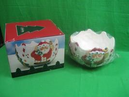 St. Nicholas Square Large Serving Christmas Bowl Santa NIB - $23.33