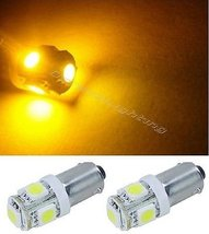 OCTANE LIGHTING (2) Yellow Amber 5-Led Dash Indicator Panel Cluster Gaug... - $4.90