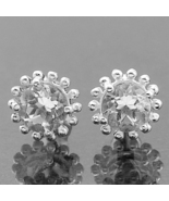 Very Beautiful Clear Quartz Earrings, 925 Silver, posts, stud - $32.00