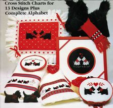 13 Cross Stitch Charts Complete Alphabet Scottie Dog Its Scot To Be Love Pattern - $11.99