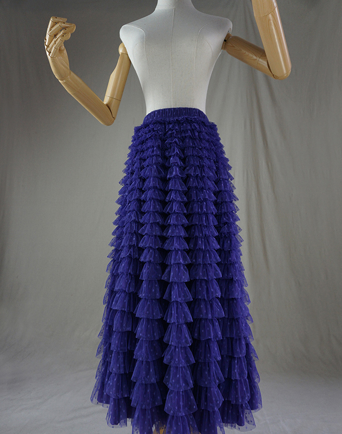 Tulle skirt purple dot 3
