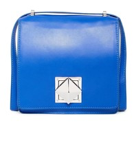 L.A.M.B Jones Leather Trim Medium Crossbody white & blue - cobalt bag  N... - $180.00