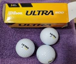 Wilson Ultra 500 Distance Golf Balls - 3Pk White Golf Balls-NEW-Ships free in US - $9.04