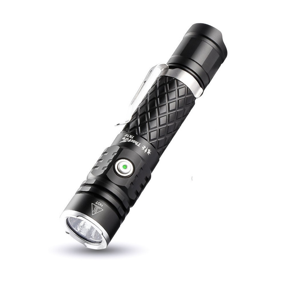 ThorFire TK18 XP-L2 1200LM Stepless Dimming Tactical UI Flashlight with 18650/US