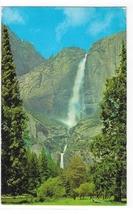Yosemite Falls Yosemite National Park CA Vintage 1950s Waterfall Postcard - $3.99
